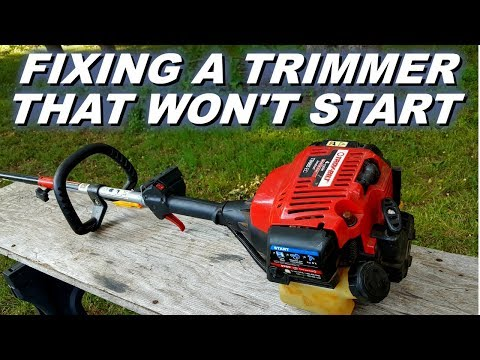 Troybilt 4cycle trimmer won't start.