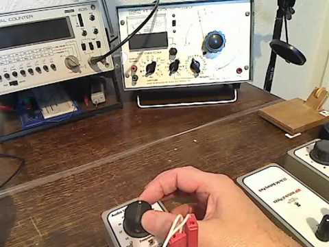 """""""Standing Waves on a Length of Nylon Experiment"""" Using my Homemade Physics Apparatus"""