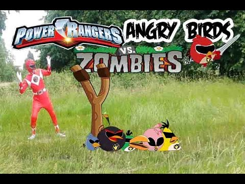 Real Life Power Rangers and Angry Birds Vs Zombies