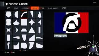 """COD Black Ops 3: """"Pray For Paris"""" Logo Emblem Tutorial - #pray4paris"""