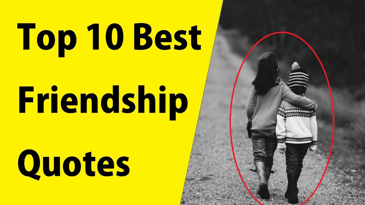 Top 10 Best Quotes For Friendship This Will Put Your Friendship To