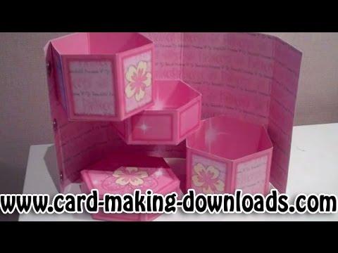 How To Make A Hexagonal Secret Treasure Box Card
