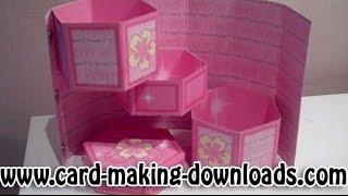 How To Make A Hexagonal Secret Treasure Box Www.card-making-downloads.com