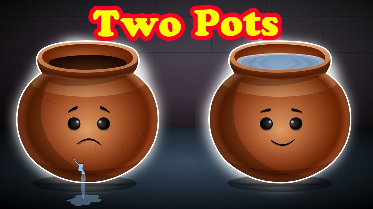 The Story of Two Pots English Moral Story || Animated Moral Stories for Kids || Fairy tales