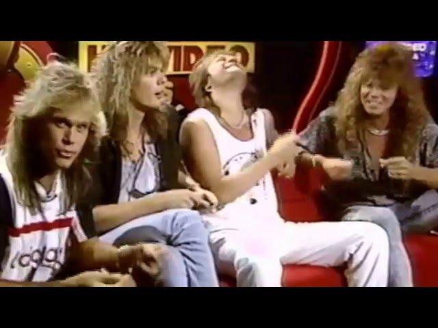 Greg Johnson Interviews Europe, band sings Dreamer,  April 30, 1987.