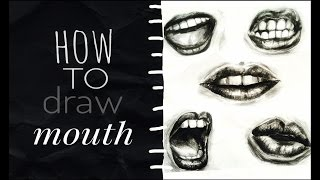 How to draw mouth l Draw angry, kissing and screaming mouth