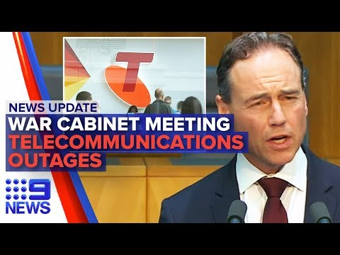 News Update: PM's coronavirus meeting, Telecommunications struggle | Nine News Australia
