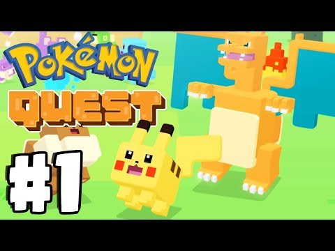 New FREE Mobile Pokemon Game! Pokemon Quest Gameplay Walkthrough Part 1 Switch, IOS, Android