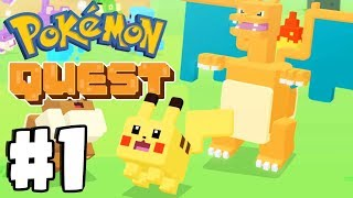 New FREE Mobile Pokemon Game! Pokemon Quest Gameplay Walkthrough Part 1 (Switch, IOS, Android)