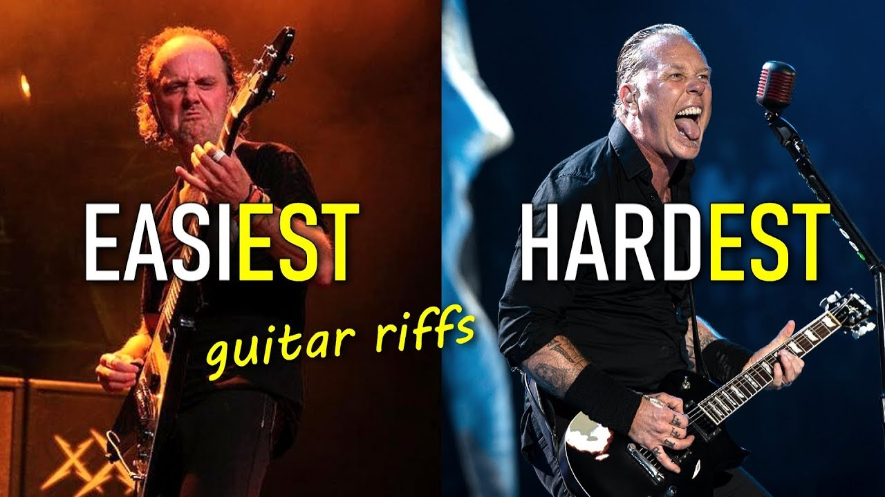 20 Metallica Guitar Riffs From Easiest to Hardest