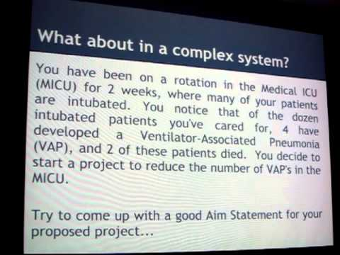 Lecture #1 (part 1 of 2) - Aim Statements, Process Maps