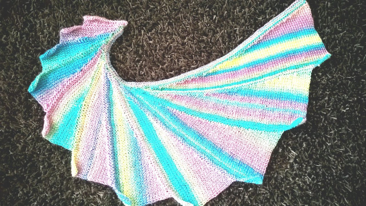 tunisian crochet wingspan scarf - YouTube