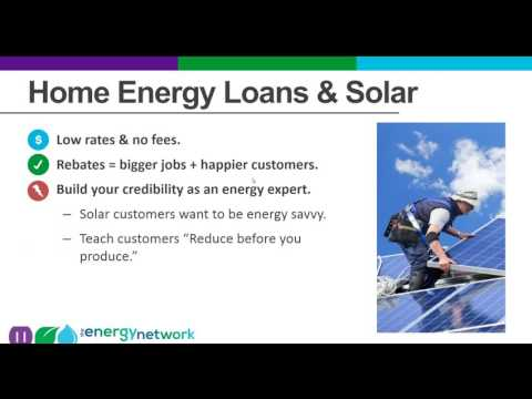 Selling Solar with Home Energy Loans