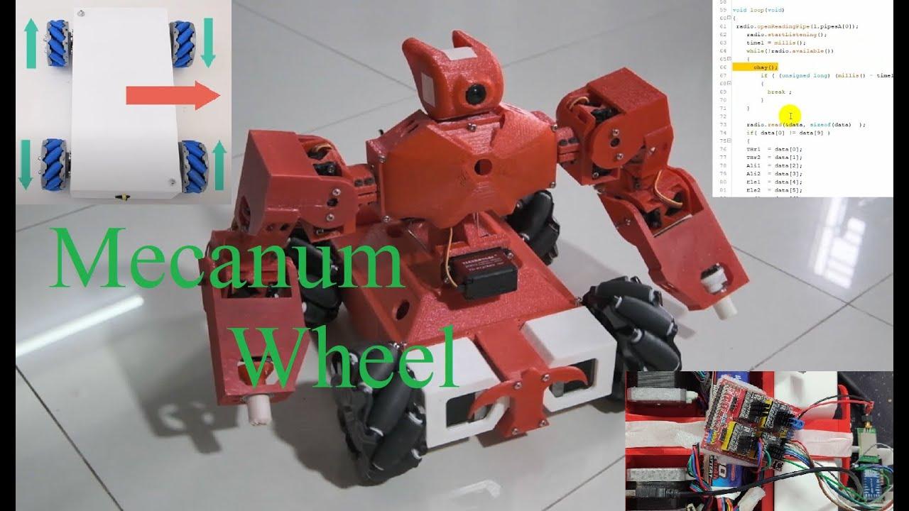 DIY ROBOT Phần 1- Điều khiển Mecanum Wheels phiên bản đơn giản-Arduino