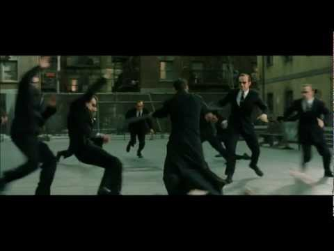 Matrix Reloaded Music scene  Burly Brawl  Neo vs Smiths