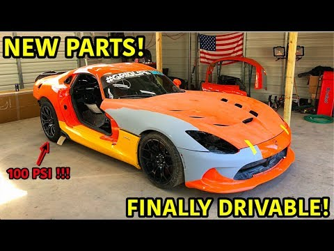 "Rebuilding A Wrecked 2014 Dodge Viper TA ""TIME ATTACK"" PART 11"