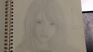 YouTube Captureから dropのメンバーである滝口ひかりさんを描いてみま...