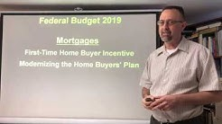 Federal Budget 2019 / Mortgages / First-Time Home Buyer Incentive & Home Buyers' Plan-CMHC-EXPLAINED