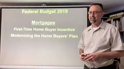Federal Budget 2019 / Mortgages / First-Time Home Buyer Incentive & Home Buyers