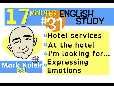 English Practice #31 - at a hotel, I'm looking for + more | Mark Kulek - ESL