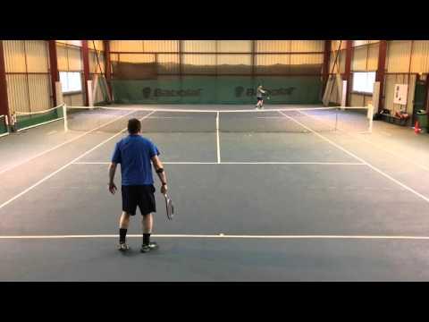 Tennis amateur Antoine (bleu) 30/1 vs Bertrand (vert)  30/2