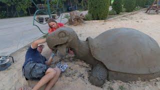 черепаха из цемента своими руками на детской площадке фильм второй