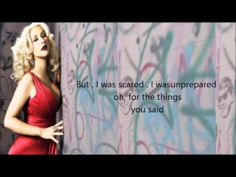 Christina Aguilera - Blank Page Lyrics on screen