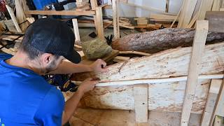 Building a Spruce Bark Canoe - E2 -  Making the Gunwale Frame