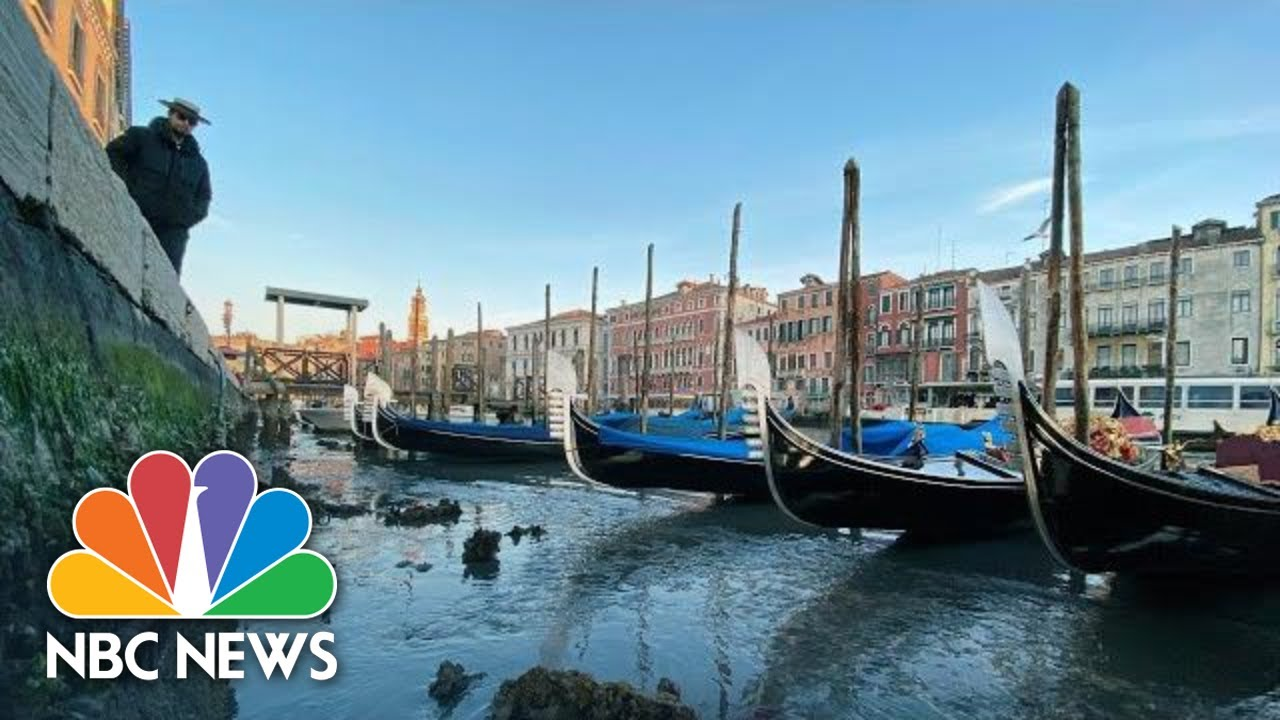 Venice Canals Nearly Empty As Tide Falls Drastically Nbc News