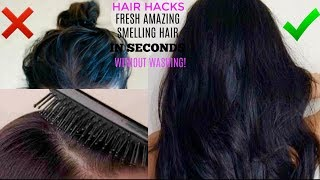 HAIR HACKS: HOW TO MAKE YOUR HAIR SMELL GOOD (ALL DAY) WITHOUT WASHING |GET FRESH CLEAN HAIR + FAVES