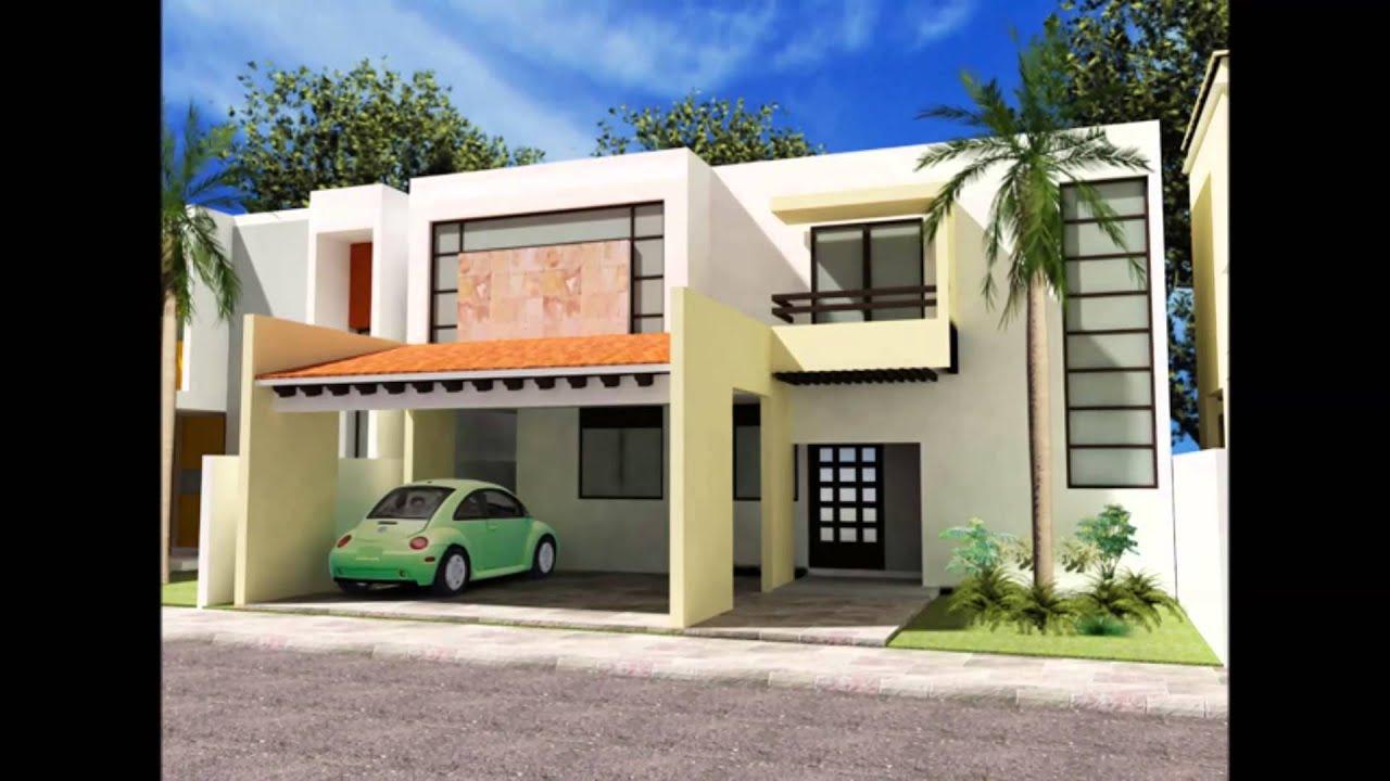 Fachadas de casas modernas residencial dunas youtube for Planos de casas modernas mexicanas