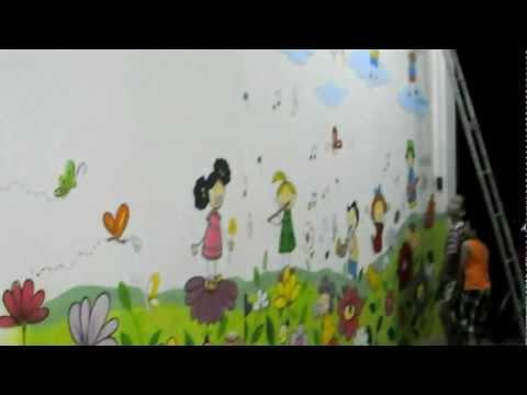 Tranh tường trường mầm non miền cổ tích