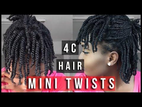 Super Easy Two Strand Mini-Twists On Dry Natural Hair ( 4C ) | Feyisetan Idowu