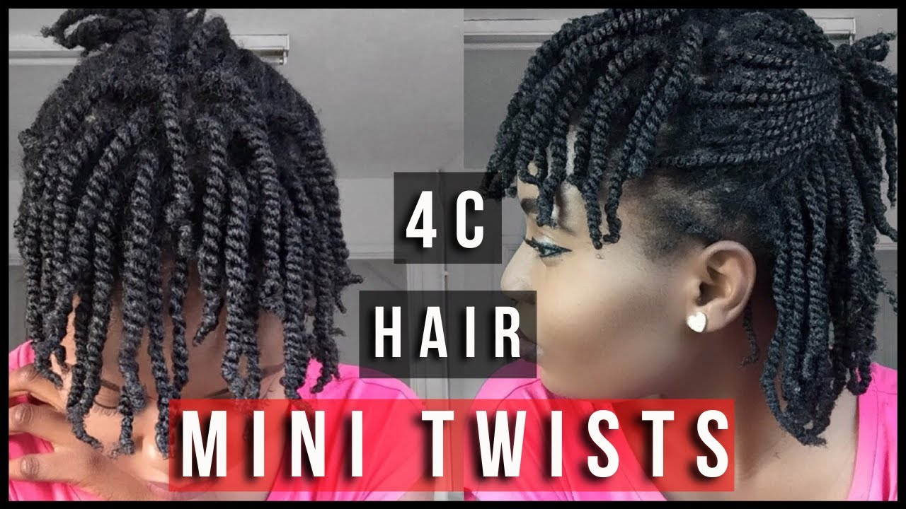 Super Easy Two Strand Mini-Twists On Dry Natural Hair ( 4C