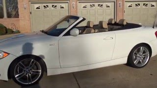 HD VIDEO 2012 BMW 135I M SPORT WHITE CONVERTIBLE NAVIGATION FOR SALE SEE WWW SUNSETMOTORS COM