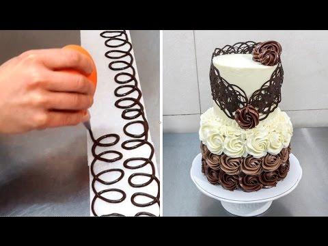 Chocolate Decoration Cake - Decorando con Chocolate by Cakes Step by Step