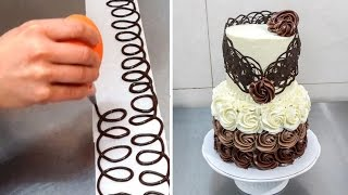 Chocolate Decoration Cake by CakesStepbyStep
