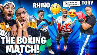 RHINO VS TORY THE BOXING MATCH! (WHO WILL WIN HER LOVE)