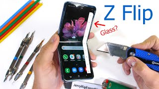 Samsung Galaxy Z Flip Durability Test - Fake Folding Glass?!