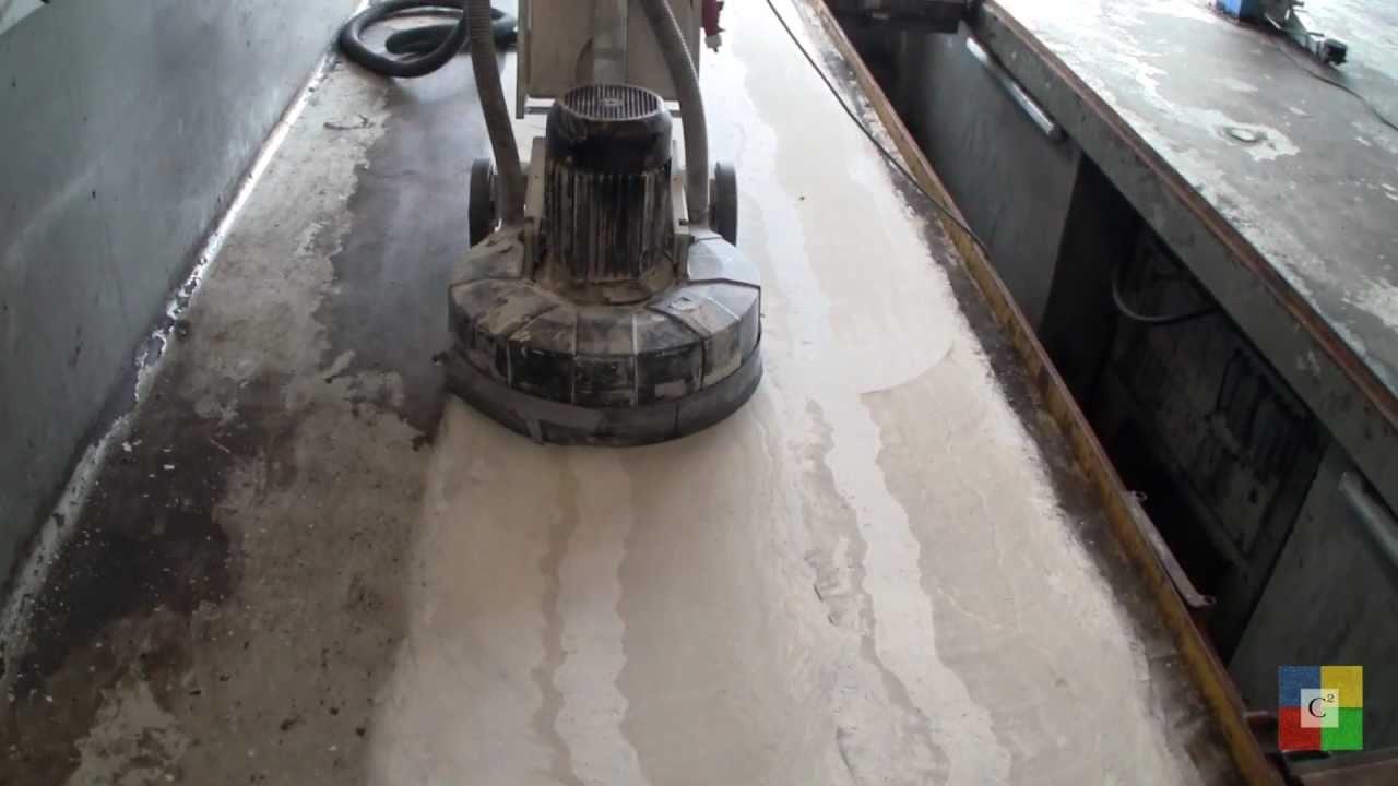 Faaborg Autoteknik renoveres med C2 Systemet der også bruges til poleret betongulv - YouTube