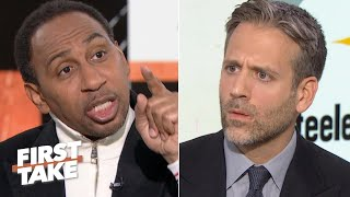 Stephen A. can't believe Max Kellerman is defending Myles Garrett | First Take