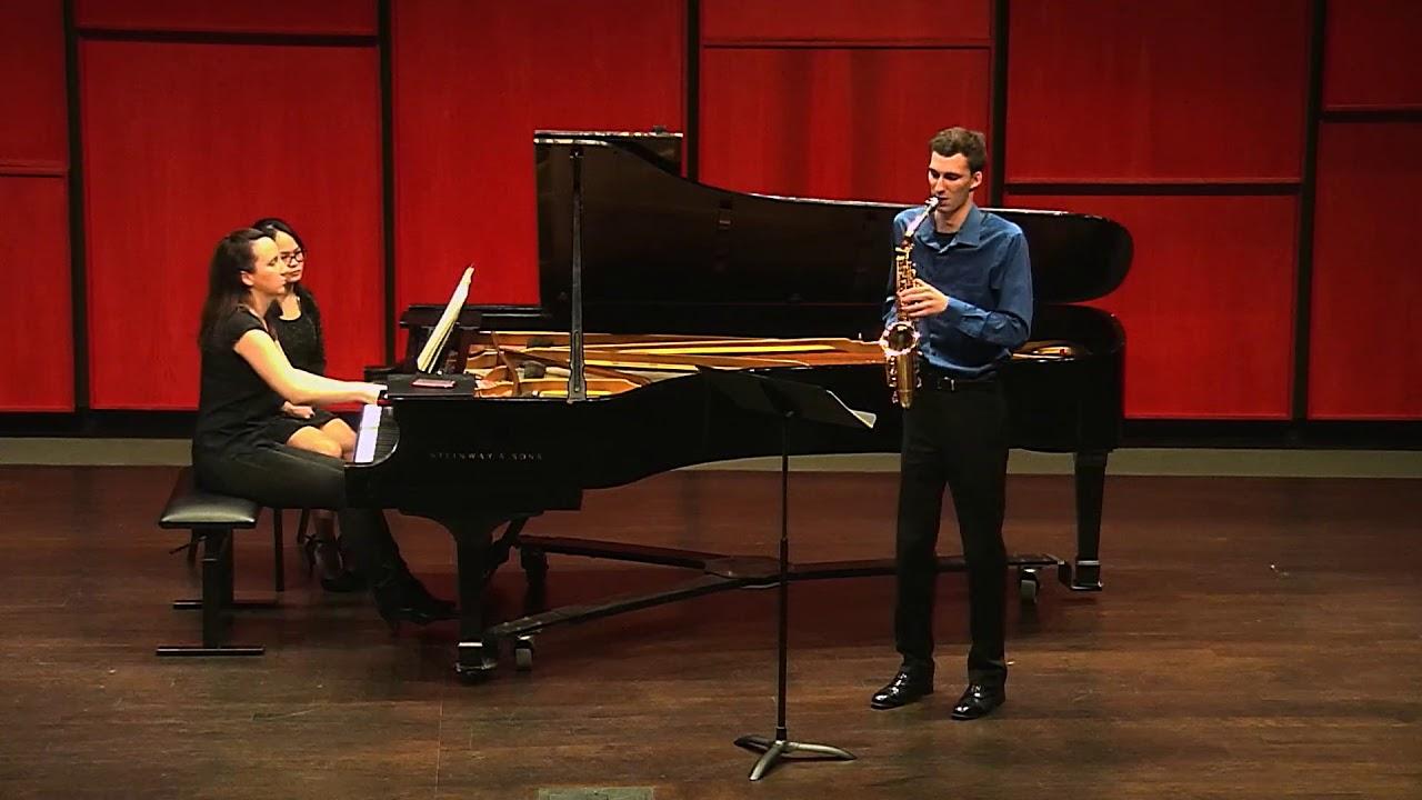 Paul Creston Sonata for Saxophone III  With Gaiety  Matt Nicholson 1080p 30fps H264 128kbit AAC