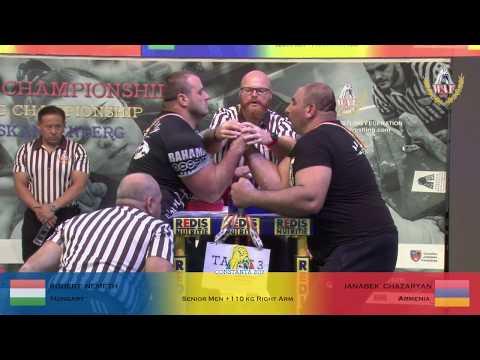 SENIOR MEN +110 KG RIGHT HAND FULL CLASS (World Armwrestling Championship 2019)