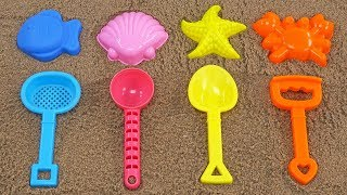 SEA ANIMAL SAND MOLD LEARN COLORS NUMBERS ALPHABETS AND WORDS