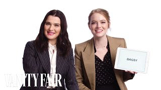 Emma Stone Learns British Slang From Rachel Weisz | Vanity Fair