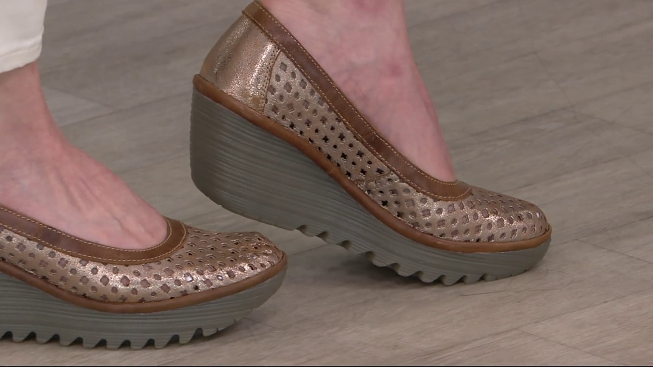 FLY London Leather Ruched Ankle Boots - Mong on QVC - YouTube