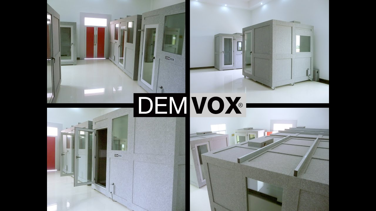 Demvox Sound Isolation Booths Dv Model Glass Door
