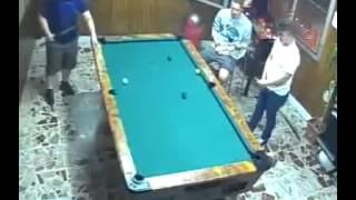 Pool Jedi - Guy makes some amazing shots