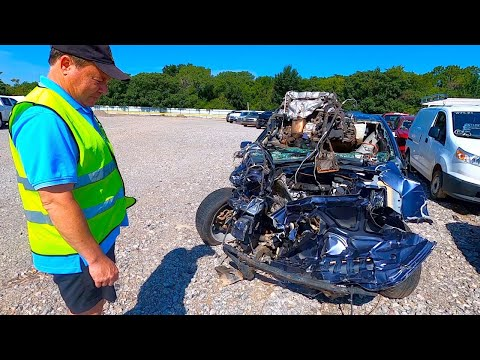 Copart Walk Around + Carnage with Monkey Wrench Mike! 8-18-2020