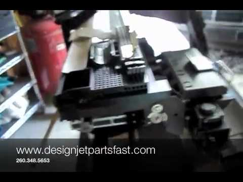 Designjet 1055cm Trailing Cable Removal Youtube